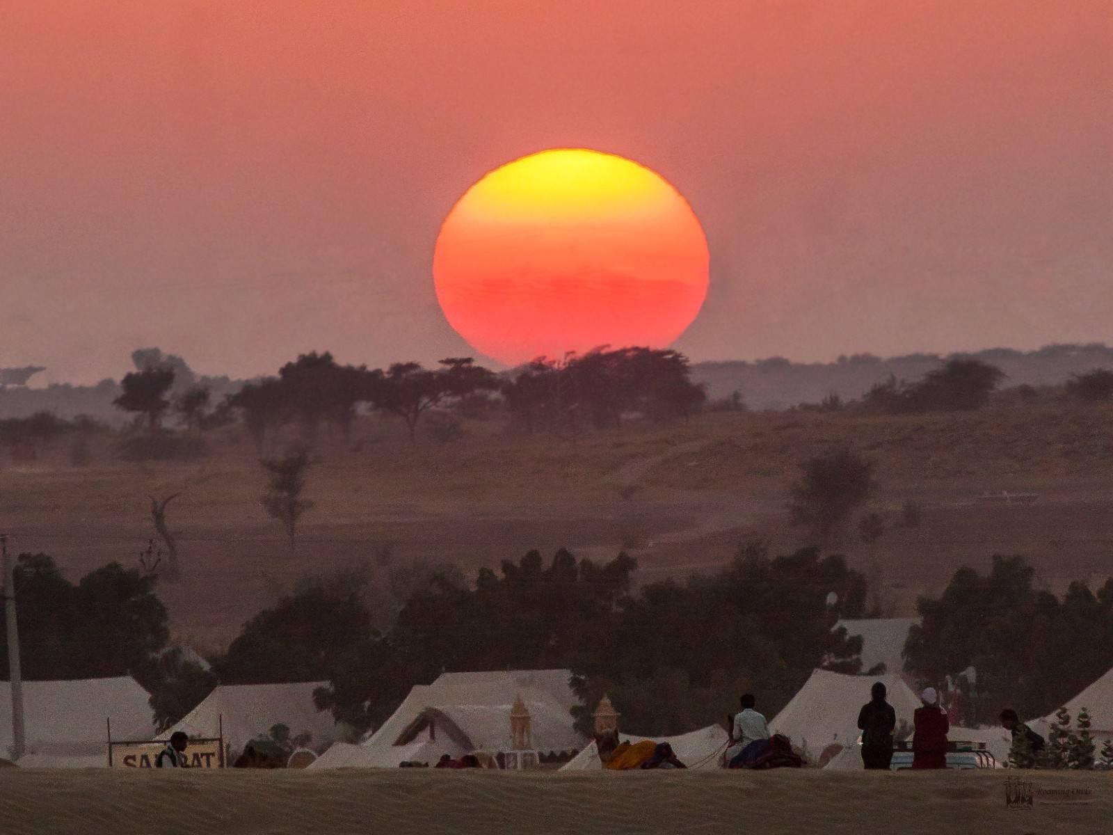 Desert National Park , sunset