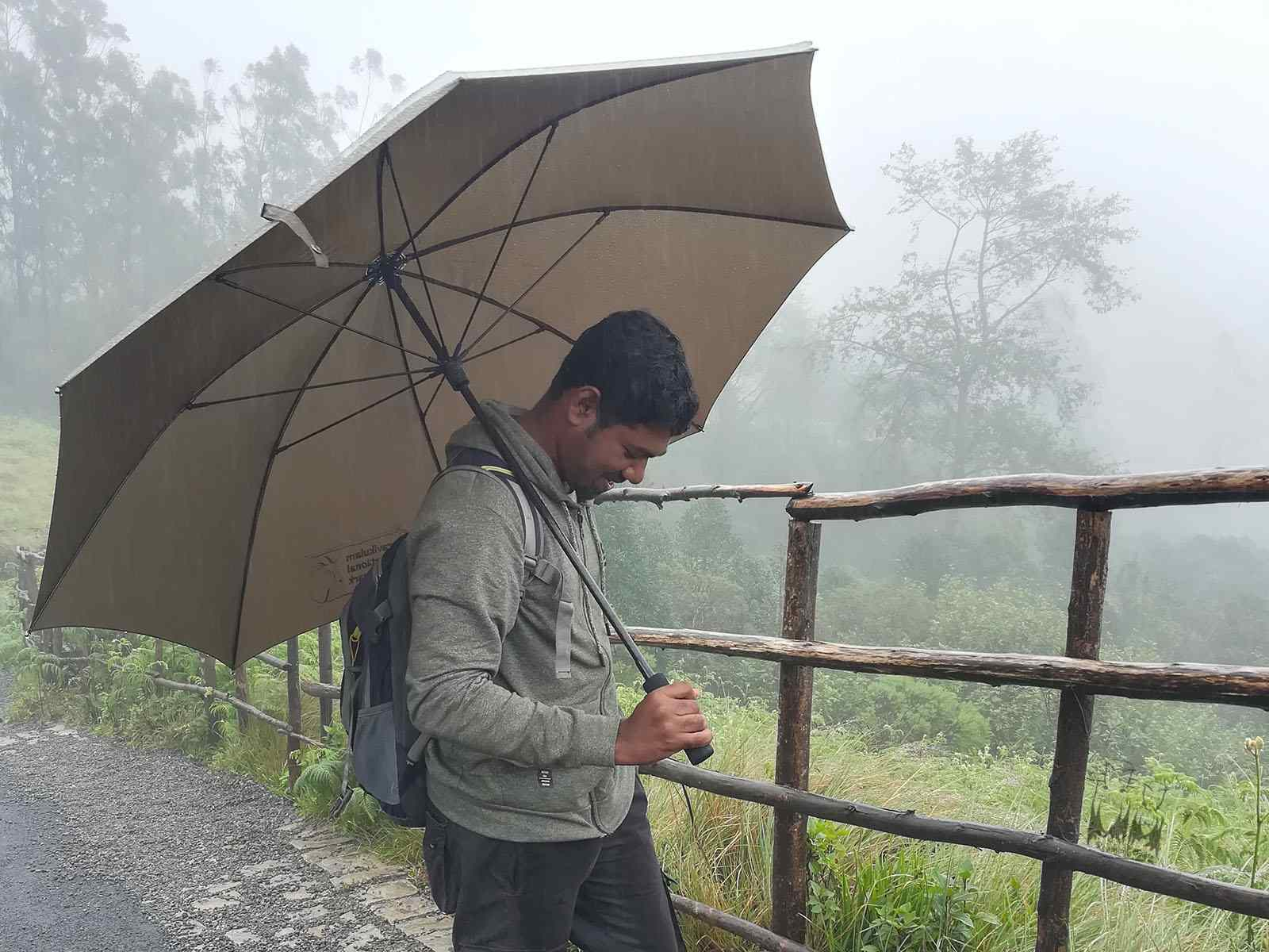 Munnar Rain,Eravikulam national park,Eravikulam forest umbrella,Vinod Sadhasivan