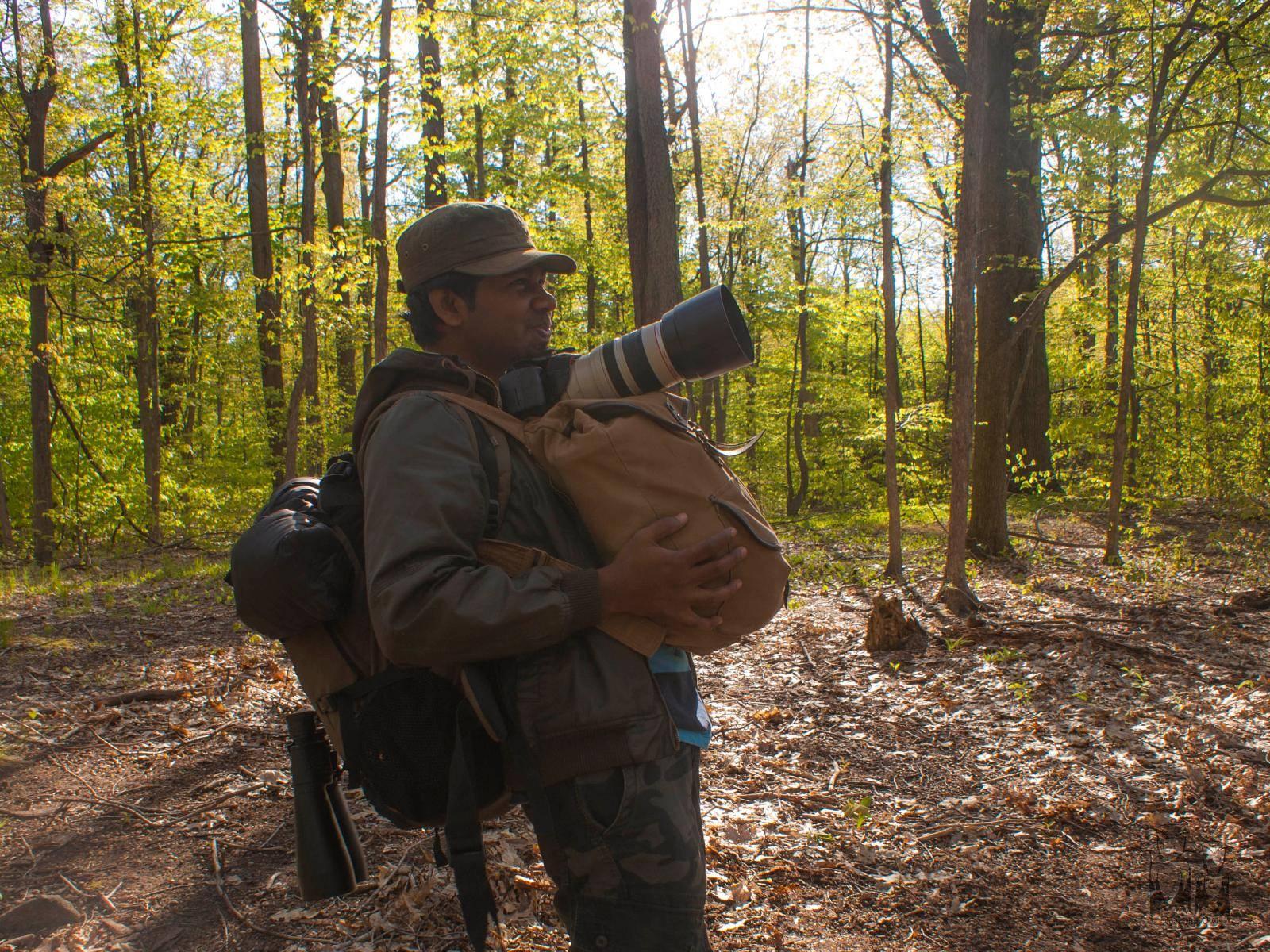 North Manitou Forest,Camera and trekking baggages,Vinod Sadhasivan
