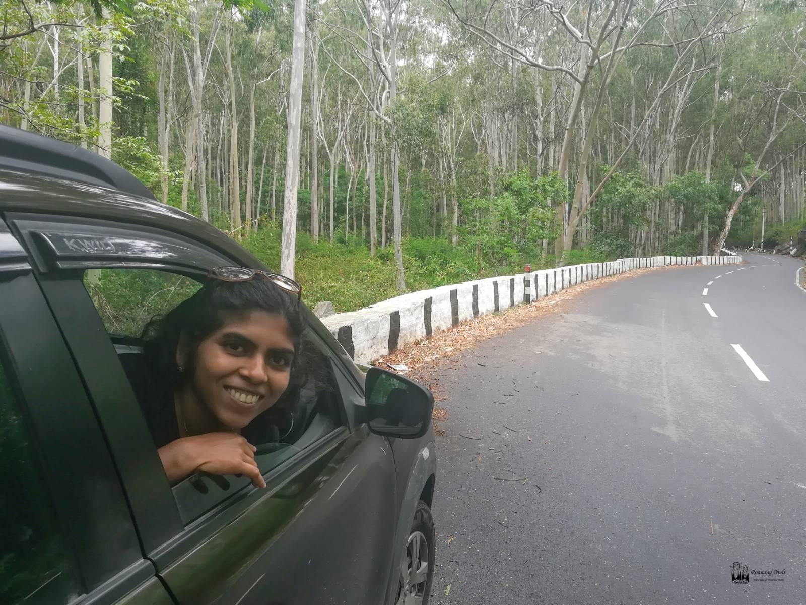 Paulmathi Vinod,Yelagiri Eucalyptus forest,Kwid Drive chennai tamilnadu