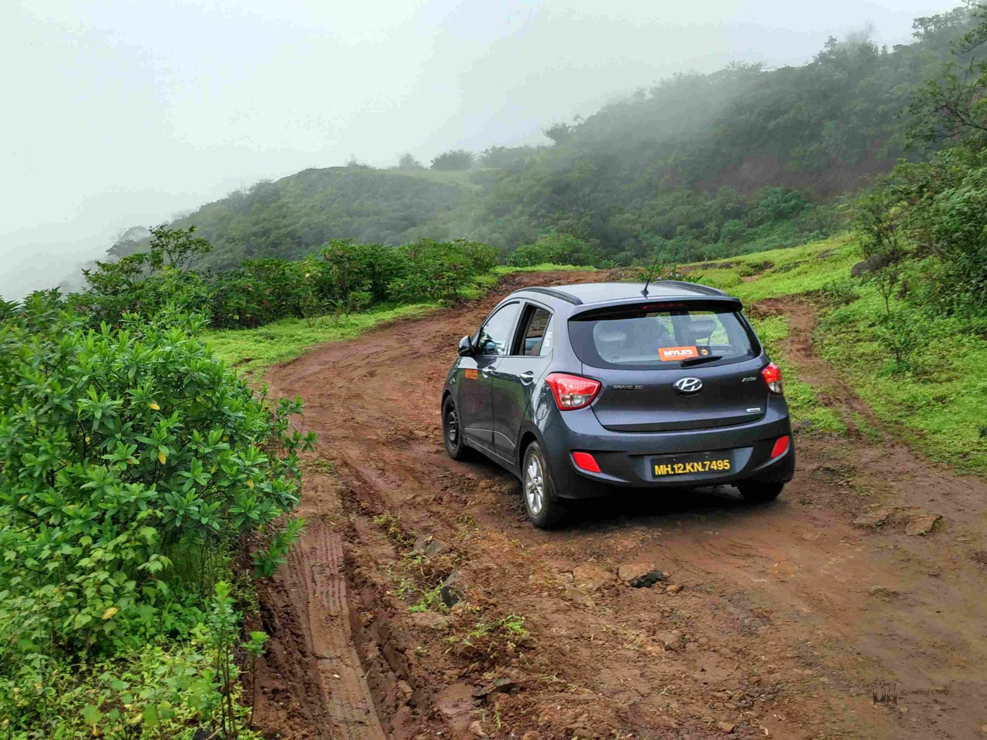 Myles Car,Offroad driving,Kaas,Satara,MuddyRoad