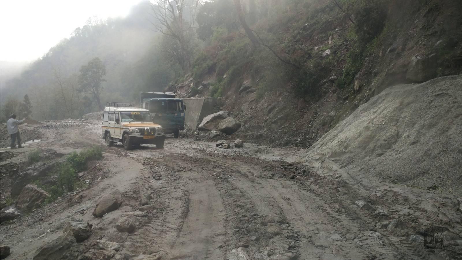 Himalayas, bad roads, land slides , sikkim