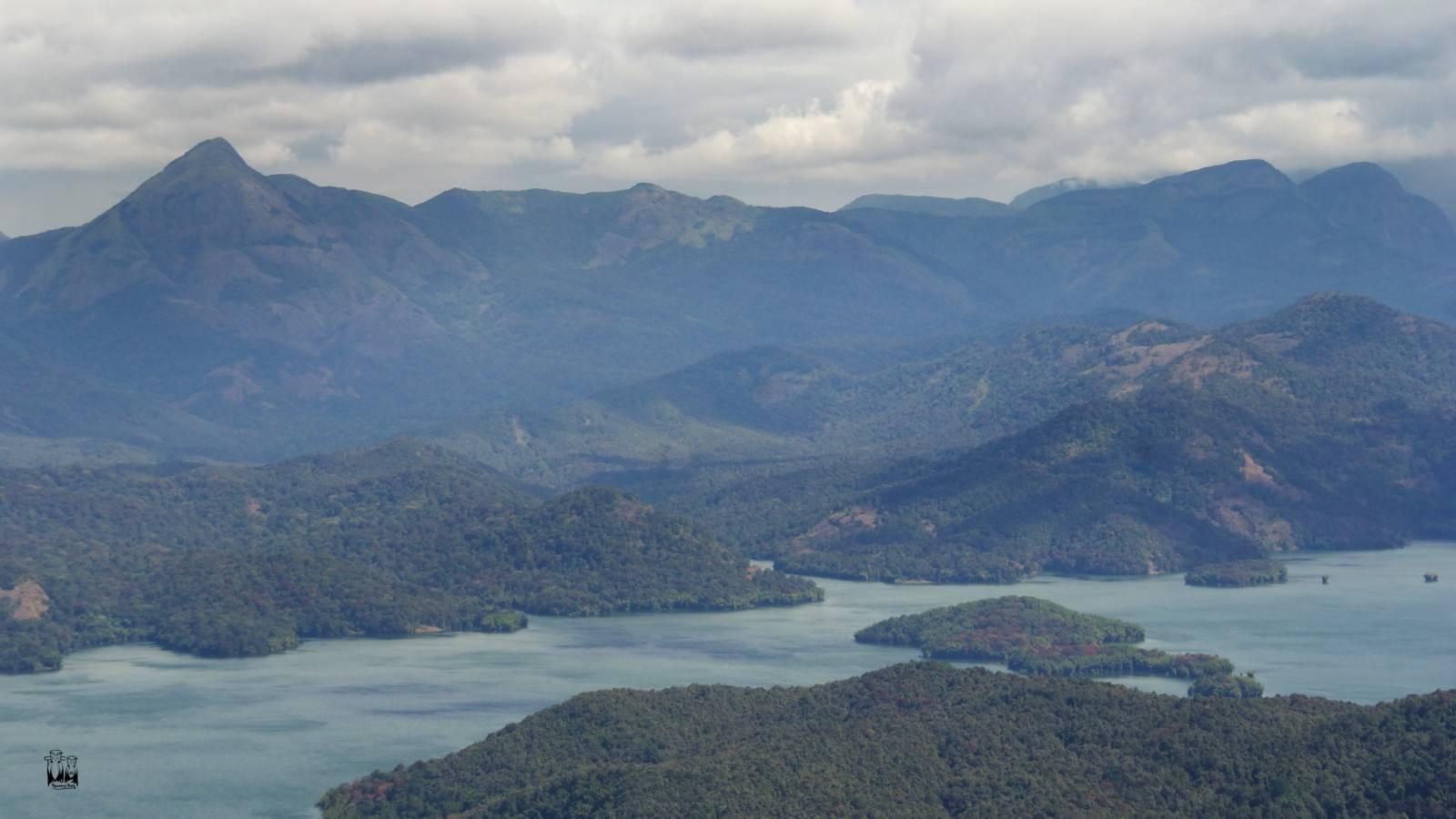 Parambikulam tiger sanctuary,water reservoir,karimala peak