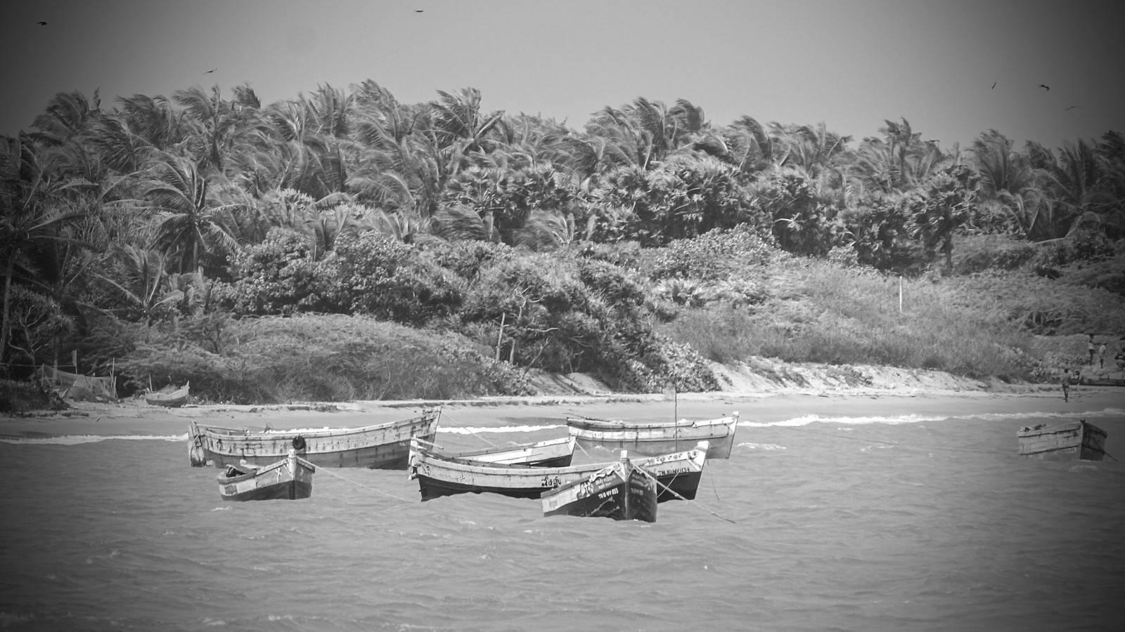 rameshwaram , fishing boats