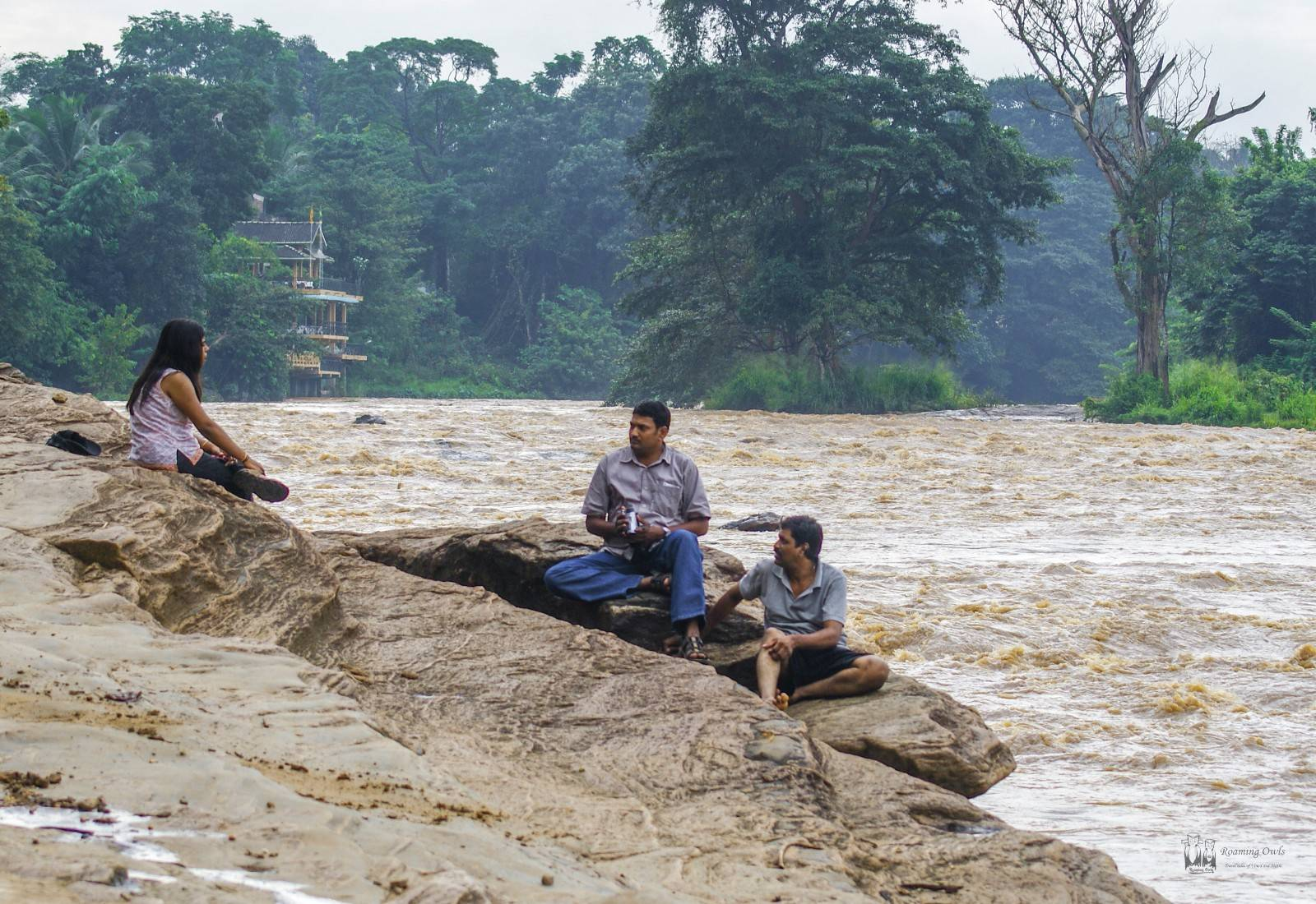 Pinnawala elephant orphanage,srilanka,flood,rain